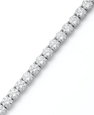 Arabella Sterling Silver Bracelet, Swarovski Zirconia Tennis Bracelet (31  ct. t.w.) - Bracelets - Jewelry   Watches - Macy s 70db6d276d8c
