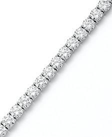Sterling Silver Bracelet, Swarovski Zirconia Tennis Bracelet (31 ct. t.w.)