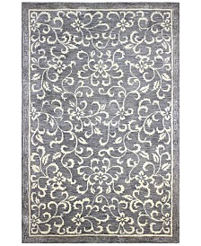 Downtown HG325 Gray 8' Round Area Rug