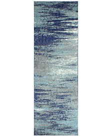 "Medley 5445A Blue 2'6"" x 8' Runner Area Rug"