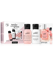 Receive a Free 3pc Pamper & Scent Gift with any $49 philosophy fragrance purchase