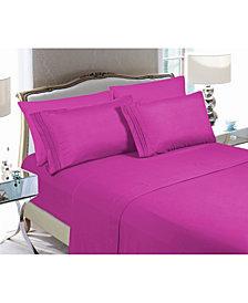 Elegant Comfort 5-Piece Luxury Soft Solid Bed Sheet Set Split King