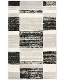Retro Black and Light Gray 8' x 10' Area Rug