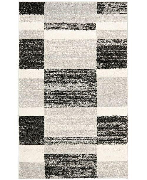 Safavieh Retro Black and Light Gray 8' x 10' Area Rug