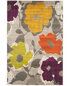 Safavieh Porcello Gray and Yellow 6' x 9' Area Rug