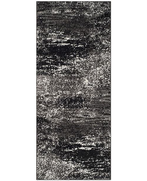 "Safavieh Adirondack Silver and Black 2'6"" x 10' Runner Area Rug"