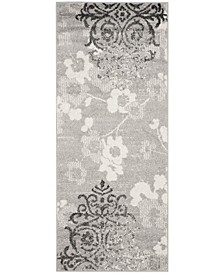 "Adirondack Silver and Ivory 2'6"" x 10' Runner Area Rug"