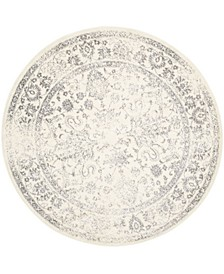 Adirondack Ivory and Silver 8' x 8' Round Area Rug