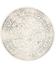 Safavieh Adirondack Ivory and Silver 8' x 8' Round Area Rug