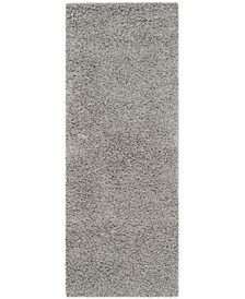 "Athens Light Grey 2'3"" x 10' Runner Area Rug"