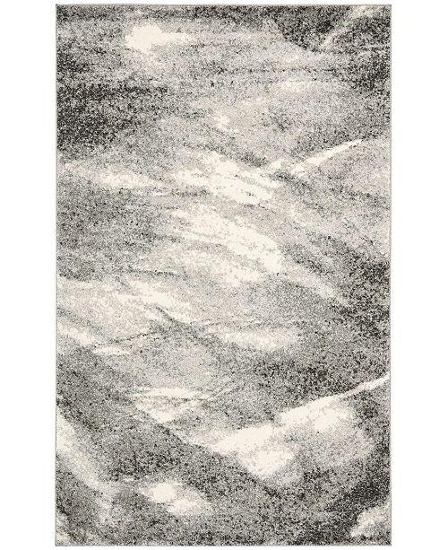 Safavieh Retro Gray and Ivory 11' x 15' Area Rug