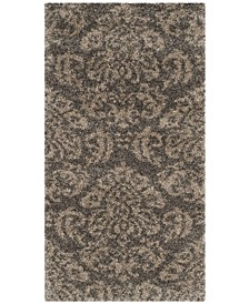 "Shag Smoke and Beige 2'3"" x 4' Area Rug"