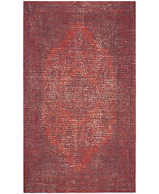 Classic Vintage Orange and Red 6' x 6' Square Area Rug