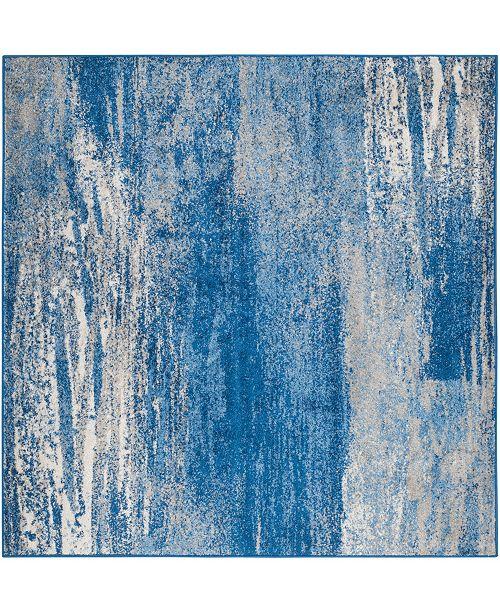 Safavieh Adirondack Silver and Blue 4' x 4' Square Area Rug