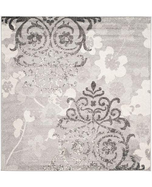 Safavieh Adirondack Silver and Ivory 4' x 4' Square Area Rug