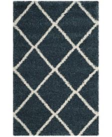 Hudson Slate Blue and Ivory 4' x 6' Area Rug