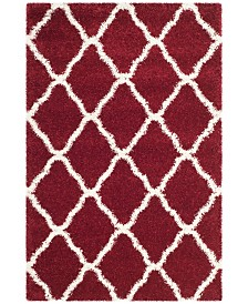 Safavieh Hudson Red and Ivory 6' x 9' Area Rug