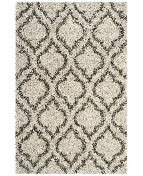 Safavieh Hudson Ivory and Gray 4' x 6' Area Rug