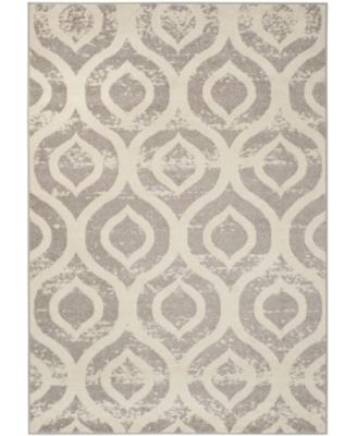 Amsterdam Ivory and Mauve 8' x 10' Sisal Weave Area Rug