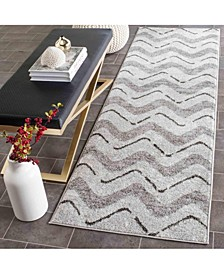 "Adirondack Silver and Charcoal 2'6"" x 6' Runner Area Rug"