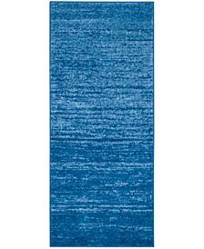 "Adirondack Light Blue and Dark Blue 2'6"" x 14' Runner Area Rug"