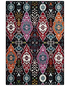 Cherokee Black and Red 6' x 9' Area Rug