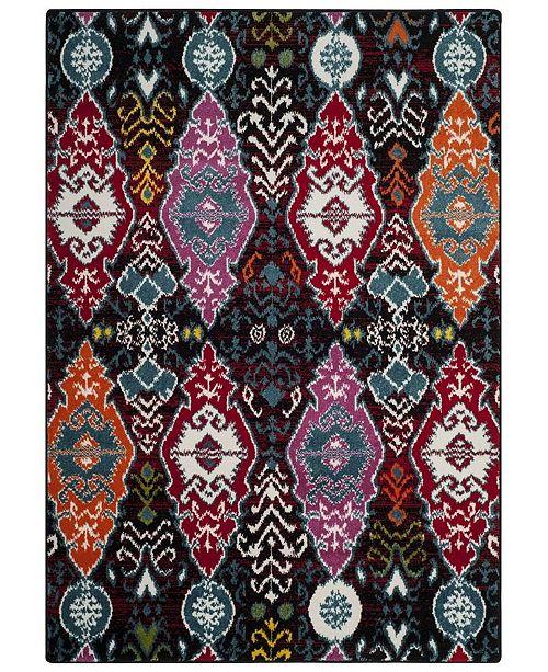 Safavieh Cherokee Black and Red 6' x 9' Area Rug