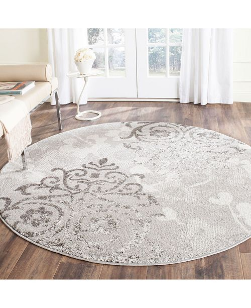 Safavieh Adirondack Silver and Ivory 9' x 9' Round Area Rug
