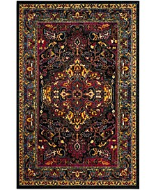 Cherokee Black and Blue 6' x 9' Area Rug
