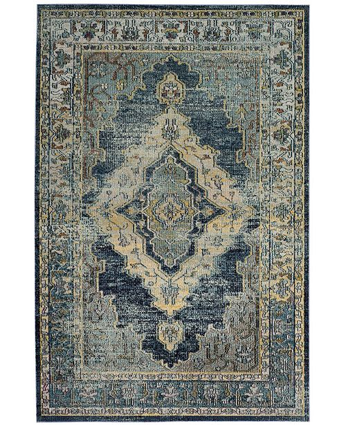 "Safavieh Crystal Blue and Yellow 6'7"" x 9'2"" Area Rug"