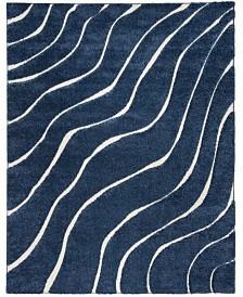 "Safavieh Shag Dark Blue and Cream 8'6"" x 12' Area Rug"