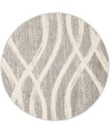 Safavieh Adirondack Gray and Cream 4' x 4' Round Area Rug