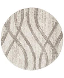 Adirondack Cream and Gray 8' x 8' Round Area Rug