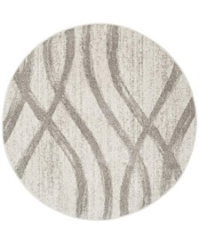 Safavieh Adirondack Cream and Gray 8' x 8' Round Area Rug