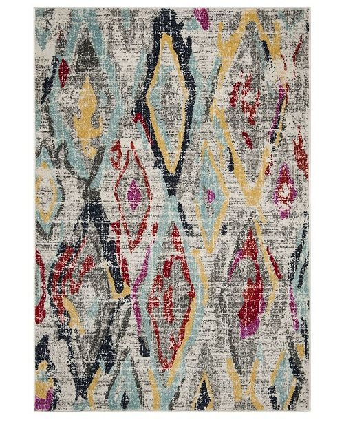 Safavieh Adirondack Light Gray and Red 6' x 9' Area Rug