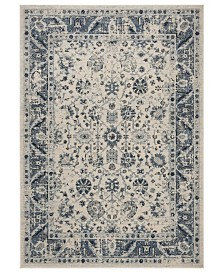 "Safavieh Charleston Ivory and Blue 6'7"" x 6'7"" Square Area Rug"