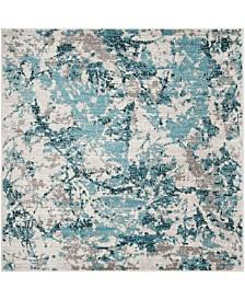 Safavieh Skyler Blue and Ivory 4' x 4' Square Area Rug