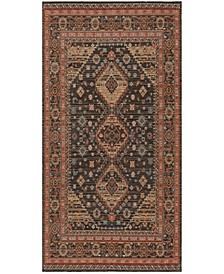 Classic Vintage Black and Rust 6' x 9' Area Rug