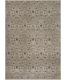 Brentwood Light Gray and Blue 6' x 9' Area Rug