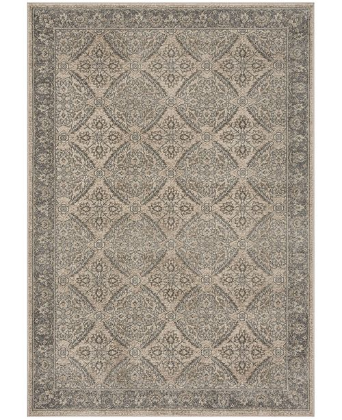 Safavieh Brentwood Cream and Gray 6' x 9' Area Rug