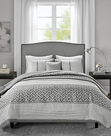 Bennett Full/Queen 4 Piece Jacquard Coverlet Set