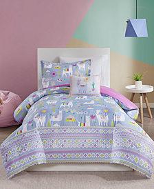 Mi Zone Kids Andes Twin 3 Piece Printed Llama Comforter Set