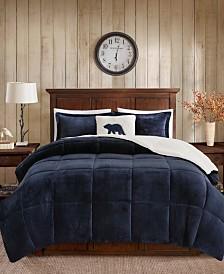 Woolrich Alton King 4 Piece Plush to Sherpa Down Alternative Comforter Set