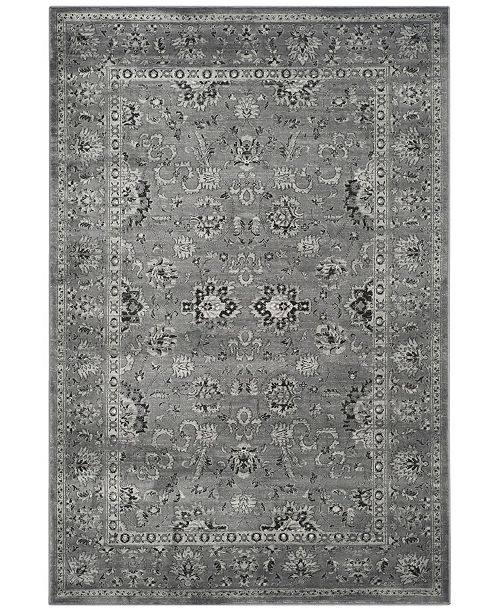 "Safavieh Vintage Dark Gray and Light Gray 6'7"" x 9'2"" Area Rug"