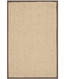 "Safavieh Natural Fiber Maize and Brown 2'6"" x 4' Sisal Weave Area Rug"