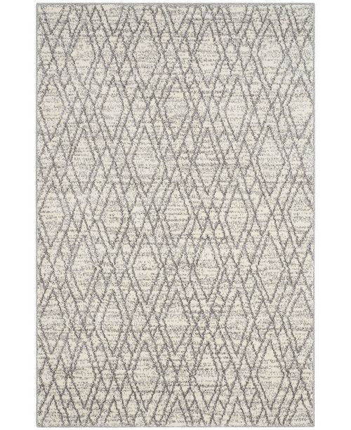 "Safavieh Tunisia Ivory and Light Gray 6'7"" x 9'2"" Area Rug"