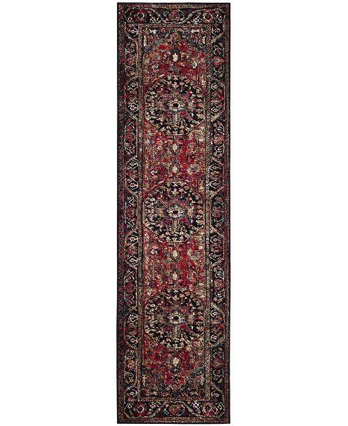 """Safavieh Vintage Hamadan Red and Multi 2'2"""" x 8' Runner Area Rug"""