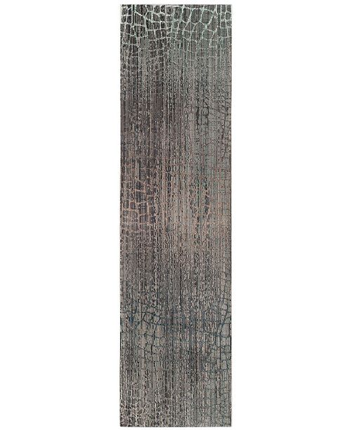 "Safavieh Valencia Grey and Multi 2'3"" x 10' Runner Area Rug"
