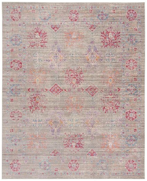 Safavieh Windsor Gray and Fuchsia 9' x 13' Area Rug