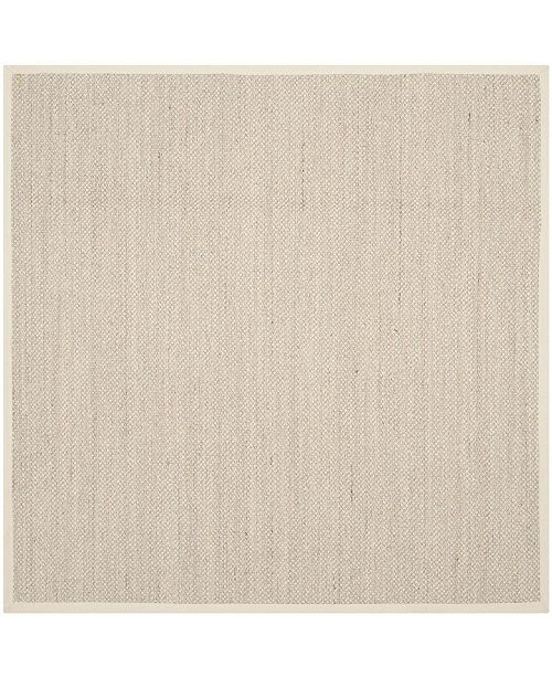 Safavieh Natural Fiber Marble and Beige 9' x 9' Sisal Weave Square Area Rug